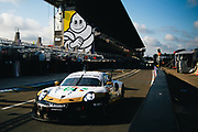 June 10-16, 2019: 24 hours of Le Mans. 92 PORSCHE GT TEAM, PORSCHE 911 RSR, Laurens VANTHOOR,  Kevin ESTRE, Michael CHRISTENSEN , morning warmup