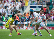"Twickenham, Surrey United Kingdom. England's Richard de CARPENTIER, during the Pool D Match, England vs Australia during the <br /> ""2017 HSBC London Rugby Sevens"",  Saturday 20/05/2017 RFU. Twickenham Stadium, England    <br /> <br /> [Mandatory Credit Peter SPURRIER/Intersport Images]"