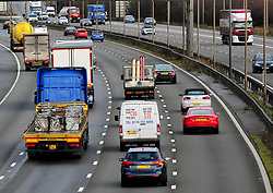 Embargoed to 0001 Monday May 22 File photo dated 22/03/17 of of vehicles travelling along the M1 motorway, as a study has found there is a lack of awareness among motorists of the emergency refuge areas on smart motorways.
