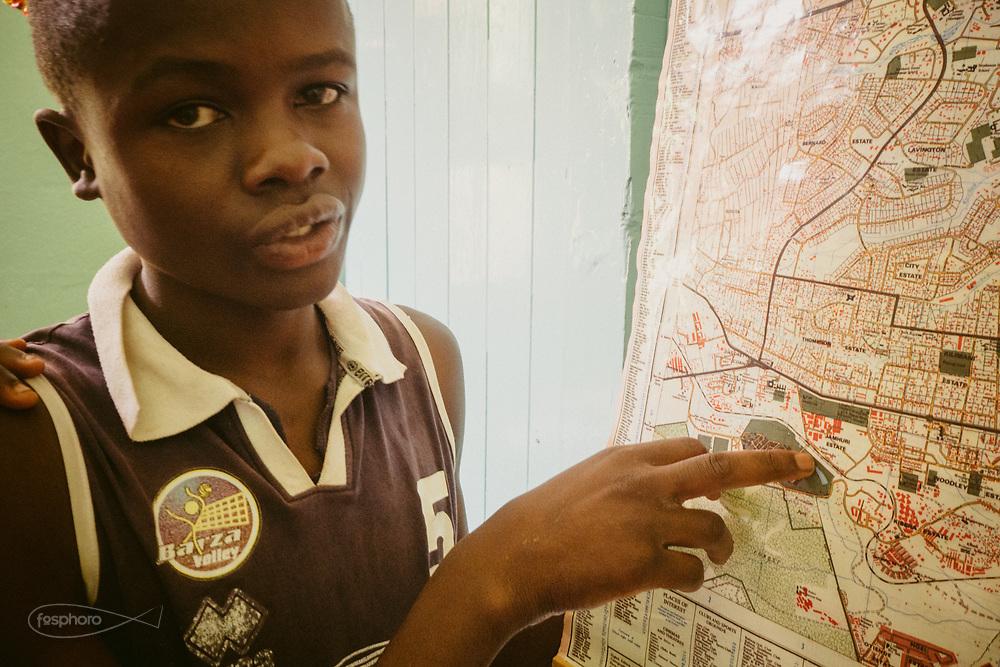"""Kenia 2017: Uno degli ospiti di """"Mdugu Ndogo"""": centro di primo intervento per il recupero dei ragazzi di strada."""