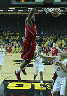 January 26, 2012: Nebraska Cornhuskers guard Caleb Walker (25) dunks the ball during the NCAA basketball game between the Nebraska Cornhuskers and the Iowa Hawkeyes at Carver-Hawkeye Arena in Iowa City, Iowa on Thursday, January 26, 2012.