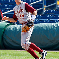 February 24, 2011; Clearwater, FL, USA; Florida State Seminoles first baseman Jayce Boyd (16) during a spring training exhibition game against the Philadelphia Phillies at Bright House Networks Field. The Phillies defeated the Seminoles 8-0. Mandatory Credit: Derick E. Hingle