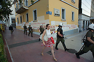 Athens, 02/07/2015: Police during referendum rally of Antarsya political branch.