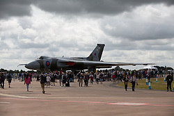 © Licensed to London News Pictures. 17/07/2015. RAF Fairford, UK.Vulcan, Last year of flying at The Royal International Air Tattoo (RIAT). Photo credit : Ian Schofield/LNP