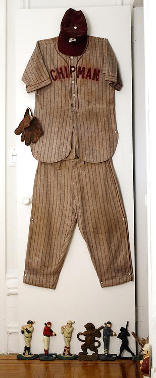 Baseball Collection: Vintage 'Chipman' Wool Baseball Uniform and 19th Century Fielder's Glove