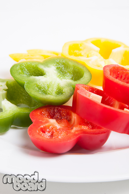 Slices of chopped bell pepper