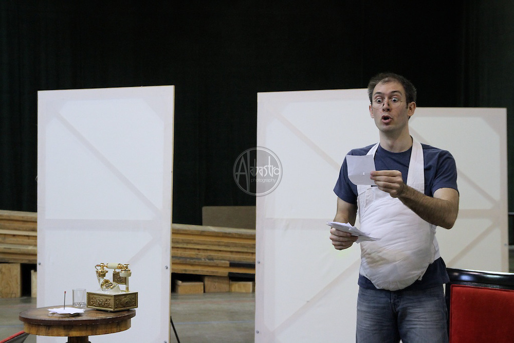 Staging rehearsal for Don Pasquale, Seattle Opera's Young Artist Program.