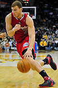 Feb. 11, 2011; Cleveland, OH, USA; Los Angeles Clippers power forward Blake Griffin (32) drives the lane during the fourth quarter against the Cleveland Cavaliers at Quicken Loans Arena. The Cavaliers broke their loosing streak beating the Clipper 126-119 in overtime. Mandatory Credit: Jason Miller-US PRESSWIRE