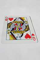 Queen of hearts playing card<br />