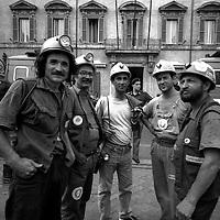 I minatori del Sulcis a Roma