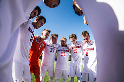 The Rutgers Scarlet Knights men's soccer team takes on the Wisconsin Badgers at Yurcak Field in Piscataway, NJ on Sunday, September 31, 2017.<br /> (Ben Solomon/Rutgers Athletics)