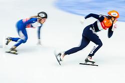 11-01-2019 NED: ISU European Short Track Championships 2019 day 1, Dordrecht<br /> Suzanne Schulting #24, Elise Christie #41 GBR