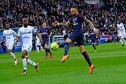 February 17, 2018 - Paris, France - Paris SG Defender KURZAWA LAYVIN in action during the League 1 French championship match Paris SG against Strasbourg RC at the Parc des Princes Stadium in Paris - France..Paris SG won 5-2 (Credit Image: © Pierre Stevenin via ZUMA Wire)
