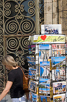 Postcard stand in Nice the South of France