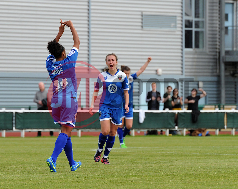 Jade Boho-Sayo of Bristol Academy Women celebrates her goal - Mandatory by-line: Paul Knight/JMP - Mobile: 07966 386802 - 13/09/2015 -  FOOTBALL - Stoke Gifford Stadium - Bristol, England -  Bristol Academy Women v Liverpool Ladies FC - FA WSL Continental Tyres Cup