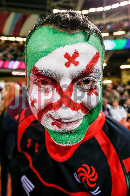 A Georgian supporter - Mandatory byline: Rogan Thomson/JMP - 07966 386802 - 02/10/2015 - RUGBY UNION - Millennium Stadium - Cardiff, Wales - New Zealand v Georgia - Rugby World Cup 2015 Pool C.