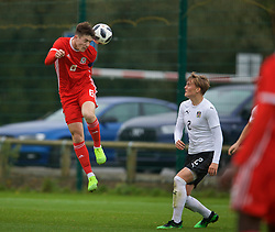 NEWPORT, WALES - Monday, October 14, 2019: Wales' captain Morgan Boyes during an Under-19's International Friendly match between Wales and Austria at Dragon Park. (Pic by David Rawcliffe/Propaganda)