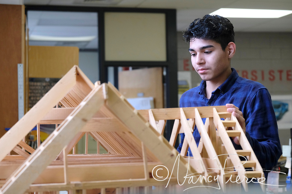 Independence high School -- This is a drafting class but it illustrates architecture . Could also be used for carpentry, perhaps.
