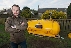 Nick Hancock will head for Rockall in the Atlantic, and the adventurer is planning to spend two months on Britain's most remote outpost, and he is building his survival pod in his back garden..© Michael Schofield...