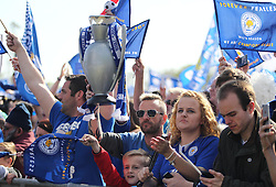 General view of fans at Victoria park during the victory celebrations - Mandatory by-line: Jack Phillips/JMP - 16/05/2016 - FOOTBALL - Leicester City FC, Sky Bet Premier League Winners 2016 - Leicester City Victory Parade