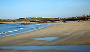 Vazon Bay sandy beach low tide Guernsey, Channel Islands