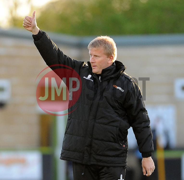 Forest Green Rovers Manager, Adrian Pennock - Photo mandatory by-line: Neil Brookman/JMP - Mobile: 07966 386802 - 29/04/2015 - SPORT - Football - Nailsworth - The New Lawn - Forest Green Rovers v Bristol Rovers - Vanarama Football Conference