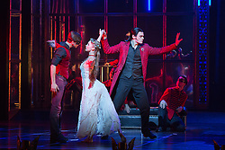 """© Licensed to London News Pictures. 04/12/2015. London, UK. Dominic North as Leo, Ashley Shaw as Aurora and Chris Marney as Count Lilac.  Matthew Bourne's """"Sleeping Beauty"""", a Gothic Romance, is performed at Sadler's Wells from 1 Dec 2015 - 24 Jan 2016. Photo credit: Bettina Strenske/LNP"""