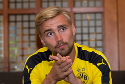 Bad Ragaz, Schweiz 04.08.2016, Trainingslager BV Borussia Dortmund, BVB, Pressekonferenz, press conference, PK, Interview,  Marcel Schmelzer (BVB)  / 040816<br /> <br /> ***Training camp of Borussia Dortmund in Bad Ragaz, Switzerland, August 4th, 2016***