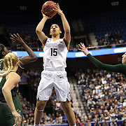 Gabby Williams, UConn, shoots during the UConn Huskies Vs USF Bulls Basketball Final game at the American Athletic Conference Women's College Basketball Championships 2015 at Mohegan Sun Arena, Uncasville, Connecticut, USA. 9th March 2015. Photo Tim Clayton