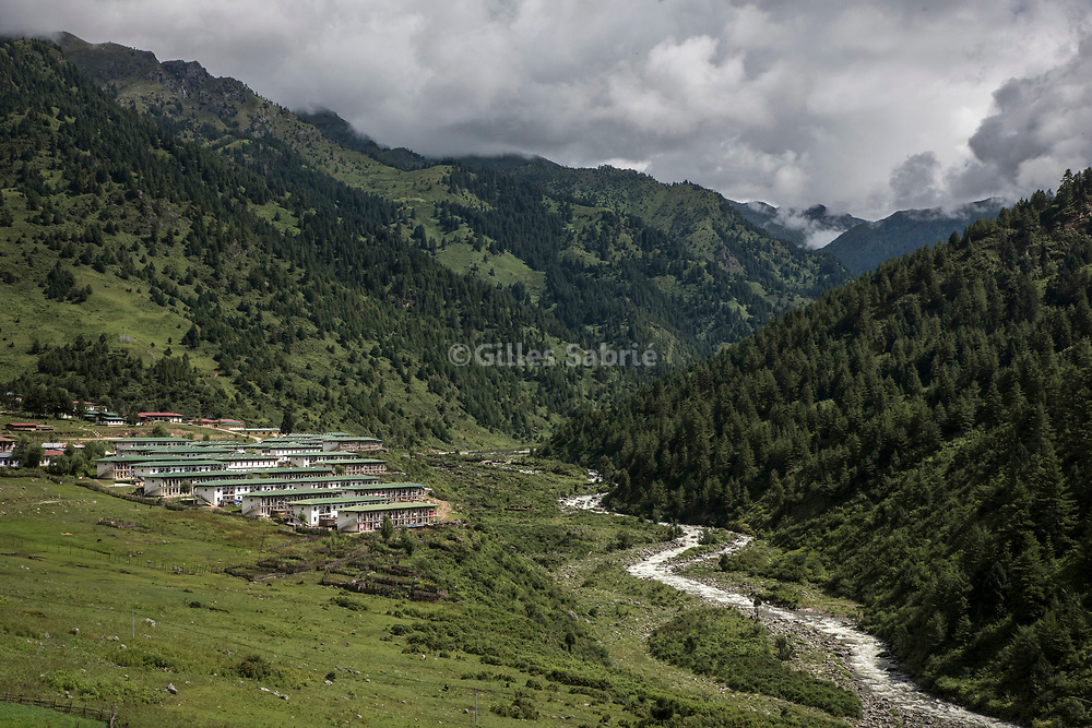 For a story by Steven Lee Myers, Bhutan<br /> Haa, Bhutan, August 3rd, 2017<br /> A base for the Royal Bhutan Army, 1 day hike away from the Doka La crossing, a disputed border area between Bhutan and China at the center of heated tension between the latter and India. <br /> Gilles Sabri&eacute; pour The New York Times