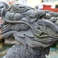 Dragon Guarding Shinchi Chinatown in Nagasaki, Japan <br />