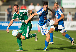 29.07.2016, Gernot Langes Stadion, Wattens, AUT, 2. FBL, WSG Wattens vs Floridsdorfer AC, 2. Runde, im Bild v.l.n.r.: Benjamin Pranter (WSG Wattens) und Christain Deutschmann (Floridsdorfer AC) // during second Austrian Bundesliga 2nd round match between WSG Wattens and Floridsdorfer AC, at the Gernot Langes Stadion in Wattens, Austria on 2016/07/29. EXPA Pictures © 2016, PhotoCredit: EXPA/ Jakob Gruber