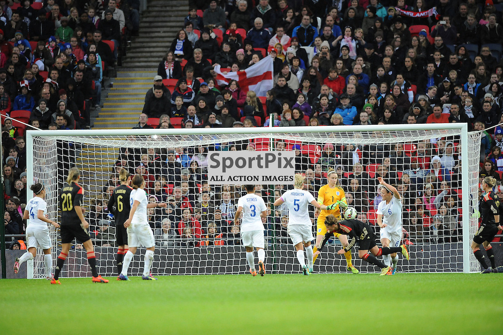 Germany Sore Their Third Goal, By Celia Sasic, England v Germany Ladies, Breast Cancer Care International, Wembley , Sunday 23rd November 2014