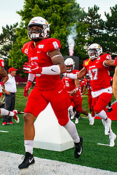 NORMAL, IL - September 07: Romeo McKnight and DeMarco Washington during a college football game between the ISU (Illinois State University) Redbirds and the Morehead State Eagles on September 07 2019 at Hancock Stadium in Normal, IL. (Photo by Alan Look)
