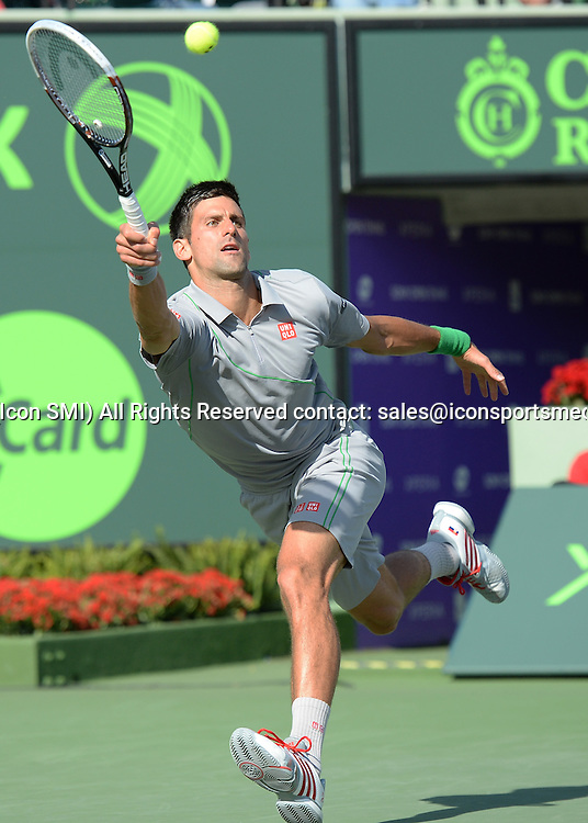 March 26rd, 2014:   Novak Djokovic  during Men's single Quarterfinal match agains Andy Murray at the Sony Open in Crandon Park, Florida