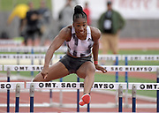 Apr 20, 2019; Torrance, CA, USA; Kendra Harrison aka Keni Harrison wins the women's 100m hurdles in 12.63  during the 61st Mt. San Antonio College Relays at El Camino College.
