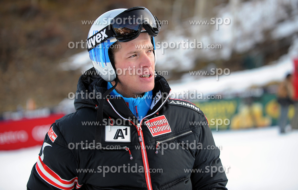 01.12.2012, Birds of Prey, Beaver Creek, USA, FIS Ski Alpin Weltcup, Super G, Herren, im Bild Weltcup, Super G, Herren, im Bild Florian Scheiber (AUT 12) // 12 th Florian Scheiber of Austria before men super G of FIS ski alpine world cup at the Birds of Prey course, Beaver Creek, United Staates of America on 2012/12/01. EXPA Pictures © 2012, PhotoCredit: EXPA/ Erich Spiess