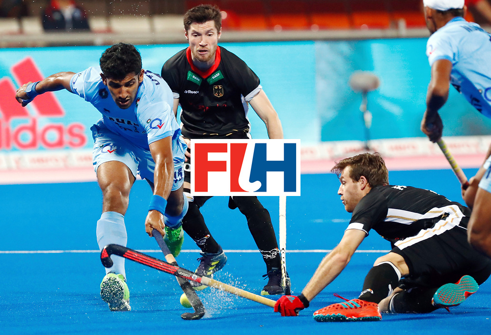 Odisha Men's Hockey World League Final Bhubaneswar 2017<br /> Match id:21<br /> India v Germany<br /> Foto: Uthappa Sannuvanda (Ind)  <br /> WORLDSPORTPICS COPYRIGHT KOEN SUYK