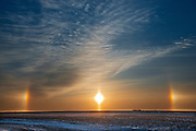 Sundogs on the Canadian prairie<br /> Winnipeg<br /> Manitoba<br /> Canada