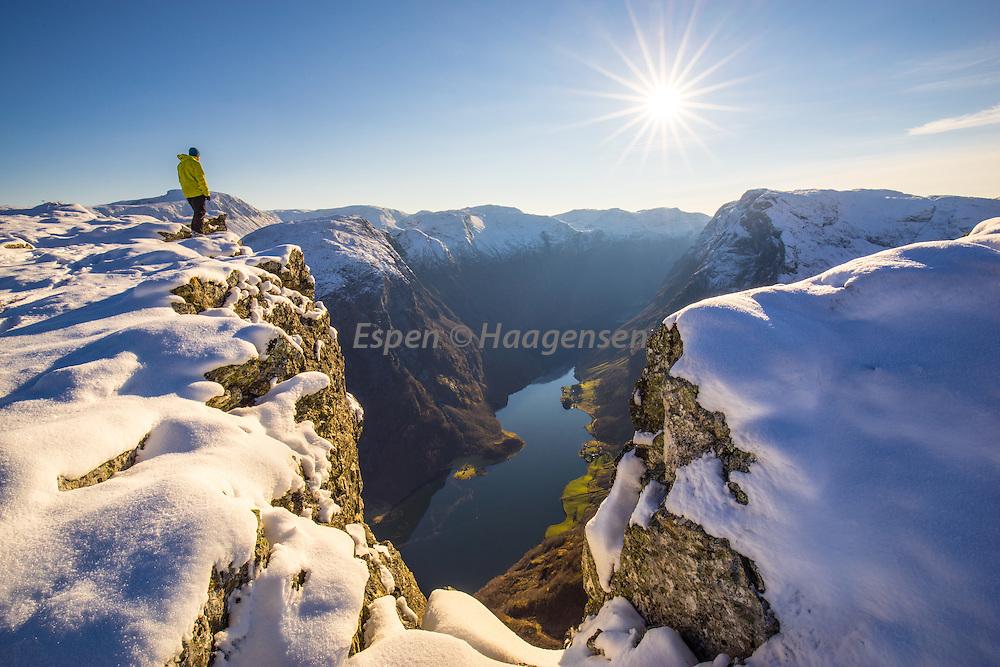 On the Edge, 1189m above the Nærøyfjord.