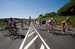 Peloton in Grosuplje at 2nd stage of Tour de Slovenie 2009 from Kamnik to Ljubljana, 146 km, on June 19 2009, Slovenia. (Photo by Vid Ponikvar / Sportida)