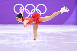 PYEONGCHANG, Feb. 12, 2018  Mirai Nagasu of the United States competes during the ladies' single free skating of figure skating team event at the 2018 PyeongChang Winter Olympic Games, in Gangneung Ice Arena, South Korea, on Feb. 12, 2018. The United States won the bronze medal of figure skating team event with 62 points in total. (Credit Image: © Ju Huanzong/Xinhua via ZUMA Wire)