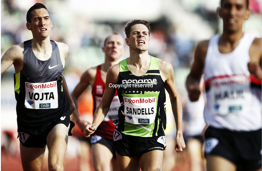 07.06.2012. Paris, France.   Diamond League Bislett Games Niclas Sandell Andreas Vojta 1500 metres for men