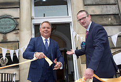 Filip Boyen, CEO of Small Luxury Hotels of the World, and Chris Lynch, general manager of the exclusive Nira Caledonia hotel in Edinburgh at its reopening today after a £1.4m investment to repair damage caused by fire. Pic copyright of Terry Murden @edinburghelitemedia