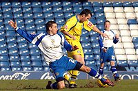 Photo: Paul Greenwood.<br />Bury FC v Wycombe Wanderers. Coca Cola League 2. 17/02/2007. Bury's Paul Scott, left, steals the ball from the feet of Scott McGleish