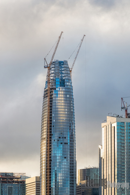 Construction of the Salesforce Tower, San Francisco, May 11, 2017