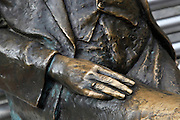 close up details of Emmerich Kalman statue, Budapest, Hungary