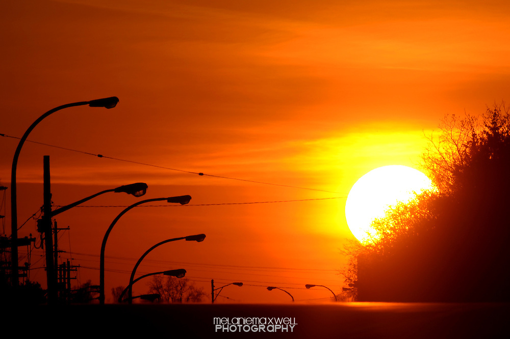 Sunset in Ann Arbor, Michigan