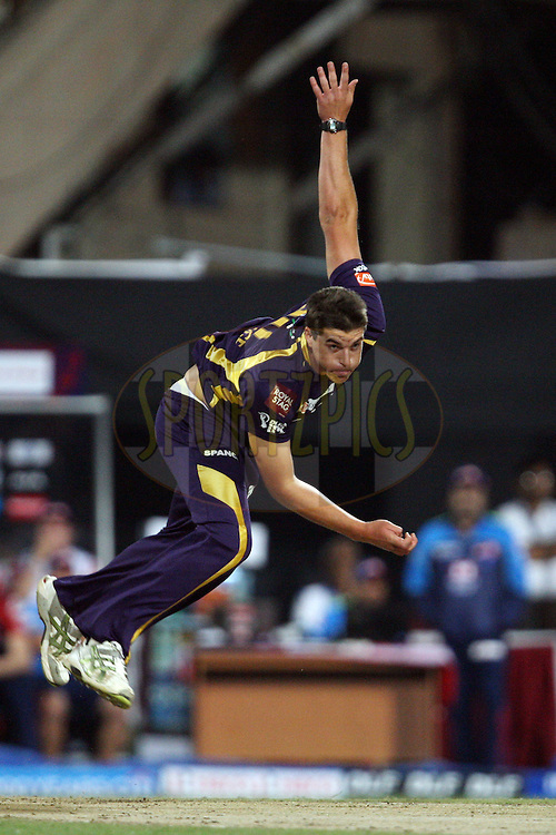 Marchant de Lange during match 2 of the the Indian Premier League ( IPL) 2012  between The Kolkata Knight Riders and The Delhi Daredevils held at the Eden Gardens Stadium in Kolkata on the 5th April 2012..Photo by Jacques Rossouw/IPL/SPORTZPICS