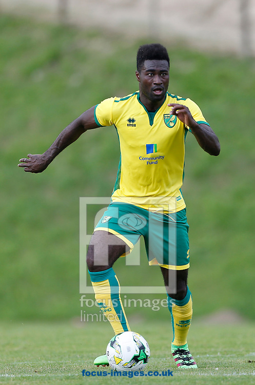 Alex Tettey of Norwich City during the pre-season friendly match between FK Dukla Prague and Norwich City at Well Welt Stadion , Kumberg<br /> Picture by EXPA Pictures/Focus Images Ltd 07814482222<br /> 20/07/2016<br /> <br /> <br /> EXPA-IES-160720-0026.jpg